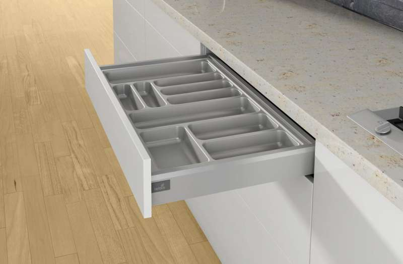 Ramasse couverts OrgaTray 440 Gris - HETTICH