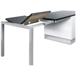 Ferrure escamotable quincaillerie qama for Ilot avec table escamotable